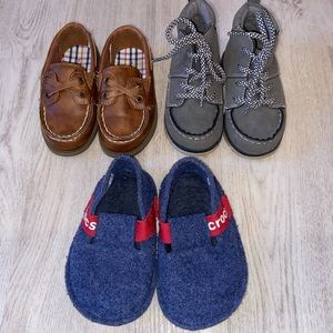 Lot of 3 pairs of boys shoes toddler size 7